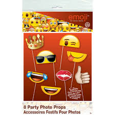 emoji photo booth props 8pc walmart com