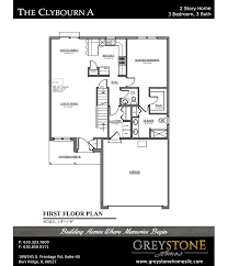 Ideal Homes Floor Plans Greystone Homes Chicagoland Home Builder The Clybourn