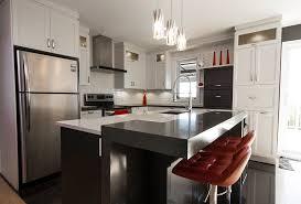 stratifié comptoir cuisine armoires de cuisine contemporaine en polyester deux ton tablette