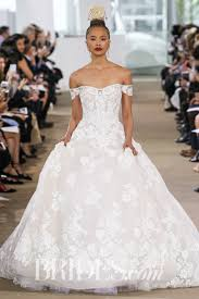 floral wedding dresses from the bridal runways brides