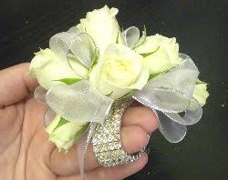 wrist corsage bracelet silver rock candy wrist corsage grande flowers