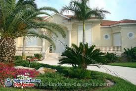 tropical circular driveway design