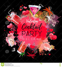 cocktail party poster design cocktail menu stock vector image