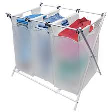 laundry sorters and hampers folding laundry basket hamper u0026 sorter with 3 removable bags sorbus