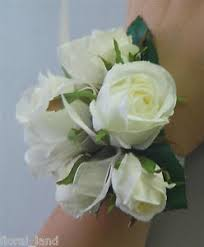 wedding wrist corsage silk wedding wrist corsage artificial flower white