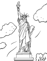 print grover cleveland in statue of liberty coloring page in full