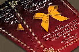 Formal Invitation Cards Golden Jubilee Invitation Card Card Templates Creative Market