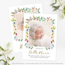 birth announcement template photoshop newborn announcement
