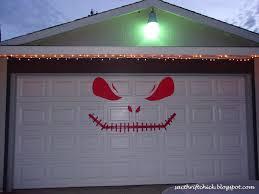 diy nightmare before christmas jack skellington garage door