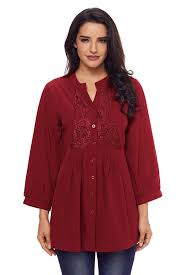 burgundy blouse burgundy lace and pleated detail button up blouse mb250630 3