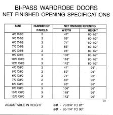 Bifold Closet Door Sizes Bifold Closet Door Opening Sizes