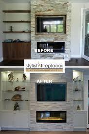 wall fireplace with tv modern corner gas fireplace designs modern