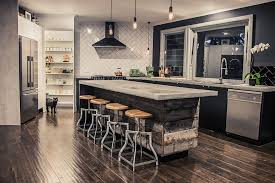 Next Bar Table Looking Tractor Seat Bar Stools In Kitchen Eclectic With