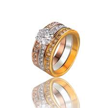 Wedding Rings Women by Jewels 3 Color Plated Ring Three In One Rings Wedding Rings
