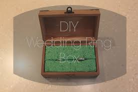 Wedding Ring Box by Camp In The Real World Diy Wedding Ring Box