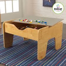 Melissa Doug Deluxe Wooden Multi Activity Table Amazon Com Kidkraft 2 In 1 Activity Table With Board Gray