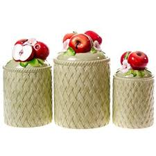 apple canisters for the kitchen ceramic apple canisters http shop crackerbarrel com ceramic