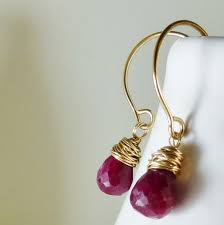 ruby drop earrings nolte design ruby drop earrings aftcra