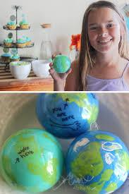 earth day craft globe ornaments alpha