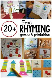 20 games and free printables for learning rhyming words the