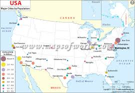 map us big cities most populated cities in us map of major cities of usa by