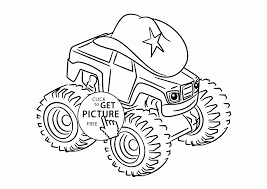 monster truck coloring books starla from blaze and the monster machines coloring page for kids