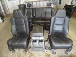ford f250 seats 99 10 ford f250 f350 duty black leather front rear seats
