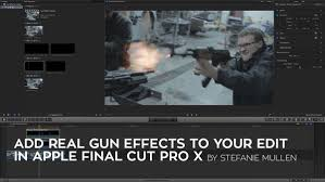 final cut pro text effects how to add real gun effects to your action scene in apple final cut
