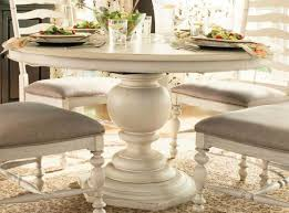 amazoncom paula deen home round pedestal table in linen tables