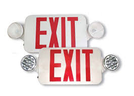 exit emergency light combo tamlite exit combo units