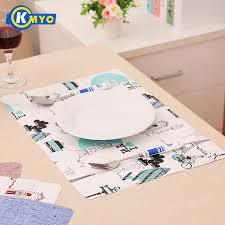 napperon de cuisine kmyc table tapis napperon carré napperons dessous de verre d