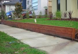composite timber retaining wall pile repairs u2014 farmhouse design