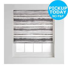 collection wash stripe daylight roller blind 6ft grey from