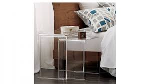 nightstands 30 inch high end table cb2 peekaboo stackable side