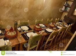 moroccan dinner table stock image image of table african 51606971