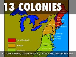 13 Original Colonies Blank Map by 13 Colonies By Kaylie Roye