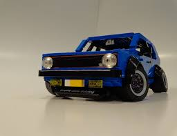 lego nissan stanced vw golf made of lego