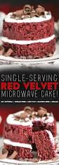 healthy single serving red velvet microwave cake a two layer