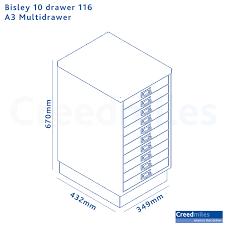 Bisley 10 Drawer Filing Cabinet Bisley 10 Drawer 116 A3 Multidrawer Creed Miles Interiors That