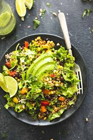 chopped fiesta quinoa salad with cilantro lime dressing creme de