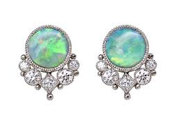 green opal green opal arsenia earrings featherstone design