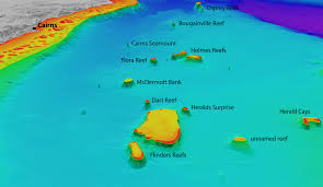 Coral Reefs Of The World Map by 3d Map Of Flinders Reefs Geoawesomeness