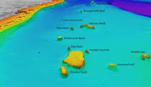 Great Barrier Reef Map 3d Map Of Flinders Reefs Geoawesomeness