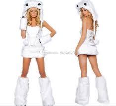 Wolf Halloween Costume Girls 2017 Furry Fasching Cat White Wolf Polar Bear Frisky