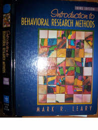 leary 2001 introduction to behavioral research methods pdf