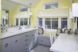 Modern Bathroom Colour Schemes - trendy twist to a timeless color scheme bathrooms in blue and yellow