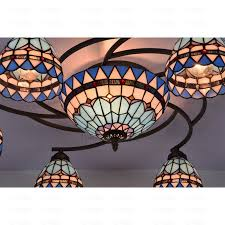 Stained Glass Ceiling Light 8 Light Stained Glass Ceiling Light Fixtures Twig
