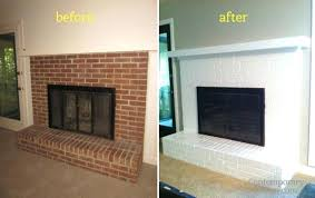 how to paint fireplace brick painted brick brick fireplace after