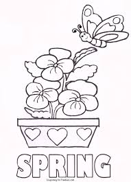 spring coloring page butterflies and flowers spring coloring page