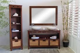 Salle De Bain Et Marron Meuble En Couleur Meuble Salle De Bain Teck Java 140 Pour Simple Ou Vasque